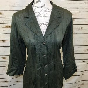 CAbi Button Down Got you Covered Shirt Dress 🍀
